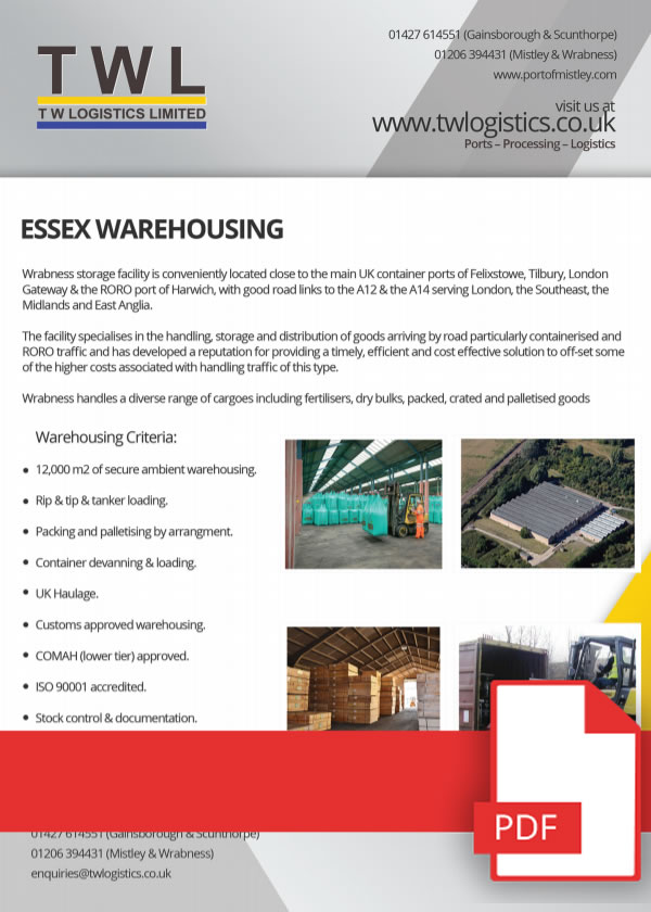 Essex Warehousing & Port Logistics The Perfect Combination