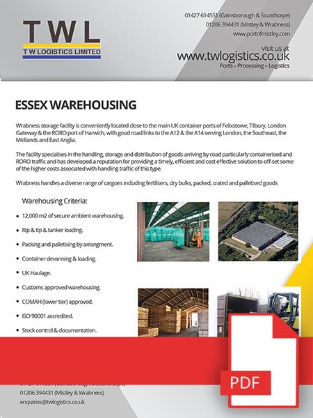 Essex Warehousing PDF