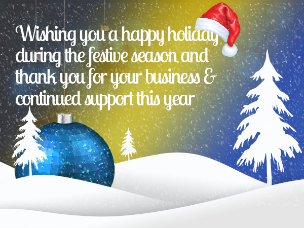 Season's Greetings From T W Logistics